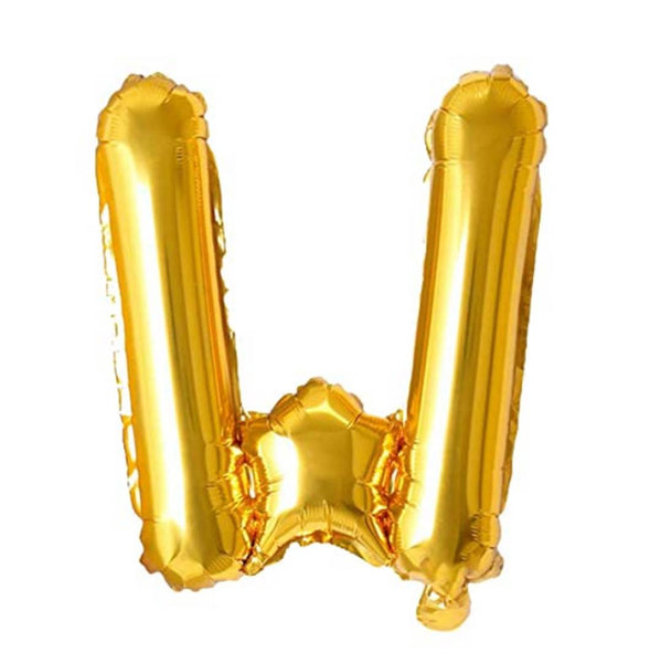 Unique Alphabet Foil Balloon -W (Golden)