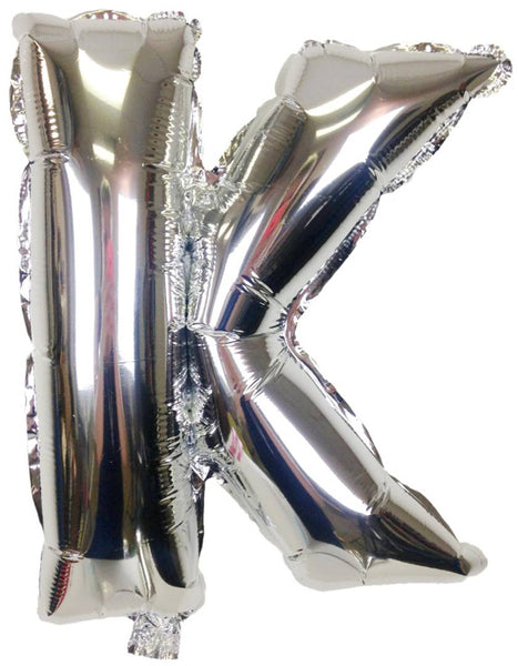 Unique Alphabet Foil Balloon -K (Silver)