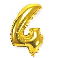 Special Foil Balloon (Number 4) (Golden)
