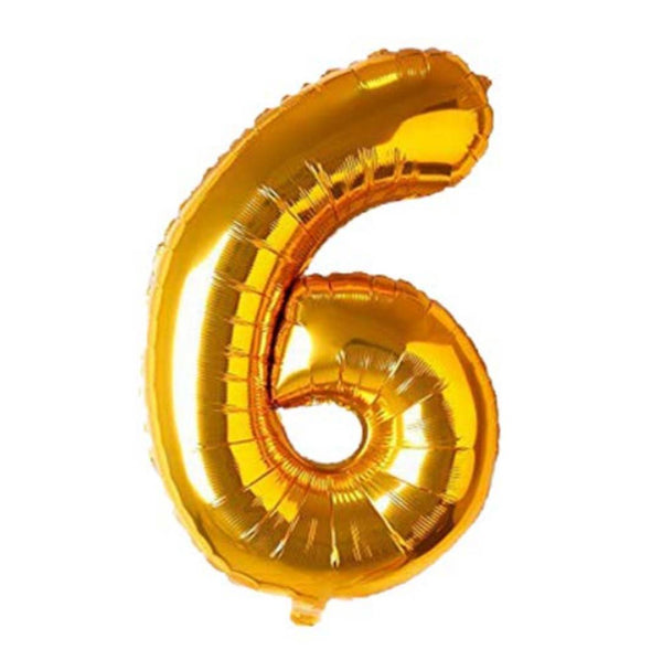 Special Foil Balloon (Number 6) (Golden)