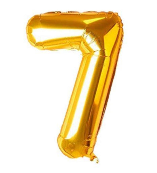 Special Foil Balloon (Number 7) (Golden)