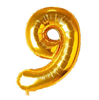 Special Foil Balloon (Number 9) (Golden)