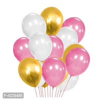 Theme Golden, White and Pink Metallic Latex Balloon (Set of 51 Pic)