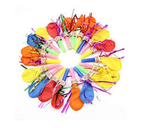 Whistles Horns Blowing  party Balloons (Pack of 100)