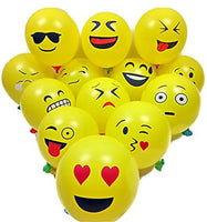 smiley emoji print balloon pk 25
