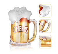 Cheers Beer Mug Shape Foil Balloons (Pack of 1) - Abelestore