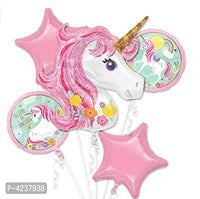 Unicorn Theme Party Foil Balloons (Pack of 5) - Abelestore