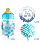 Abel Baby Boy Foil Birthday balloons (Pack of 5)