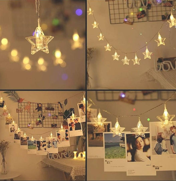 Decorative Star Photo Clip Lights 16 LED