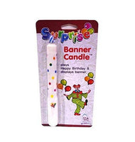 Kids surprise birthday banner candle - Abelestore