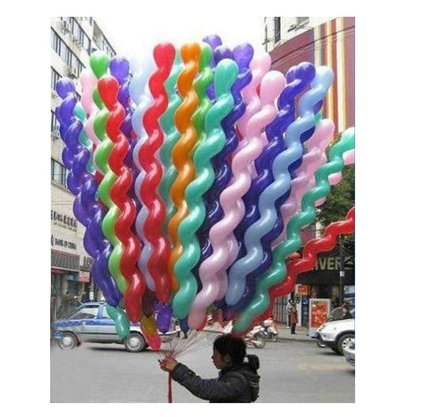 Kids Spiral Latex Balloon ( Pack of 51)