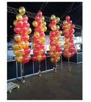 Kids Theme Red and Goldfen   Metallic Latex Balloon (Set of 51 Pic)