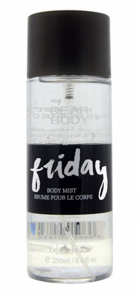 Dear Body Friday Body mist spray Body Mist - For Men & Women  (250 ml) buy from Abelestore.com