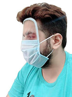 Klip2Deal Full Face Shield Pack of 2 Pcs - Resuable 3 Ply Protective Face Mask Sheild for Safety From Dust, Germs and Pollution | Anti - Fog | Eye and Head Protection | Anti - Spitting Splash from Abelestore.com buy in india maharasthra