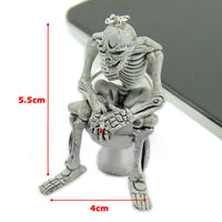 Creative Skull Toilet Pendant Purse Bag Rubber Keychain Gift Keyring Key Chain buy in india from ablestore.com