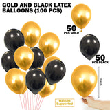 Abelestore Garland Arch Decoration Combo Kit Black Golden foil Curtain Birthday Party Supplies