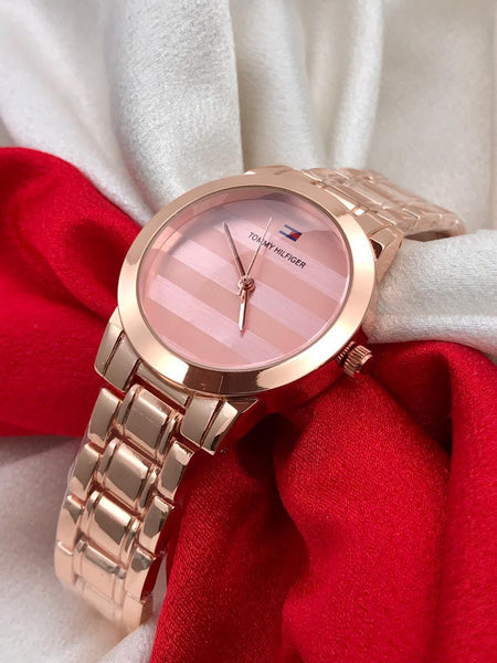 Buy from abelestore.com watches for Ladies in India ahemdabad Rajasthan Surat Mumbai Goa same day delivery With warranty Ladies watch for Gifting Purpose Branded Pink Dial Rose Gold Steel Body