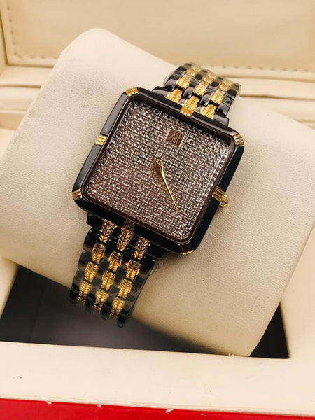 Ideas for Birthday Anniversary Gifts AP watches for Men Boys Diamond studded Black and Gold watch Same Day Delivery in Mumbai