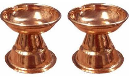 Pure Copper Diya / Copper pooja Deepak - 2 Pcs