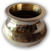 Embossed Brass Lota / Brass Decoretive Kalash / Pooja Kalash - Abelestore