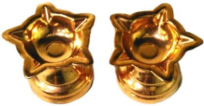 Pure Copper Five Face Diya / Pooja Deepak / Copper Diya - 2 Pcs