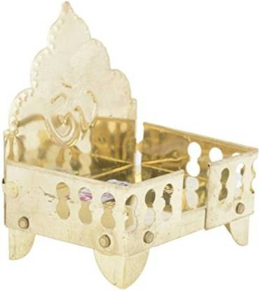 Brass Singhasan Home Temple Gold 13.9 CM - Abelestore