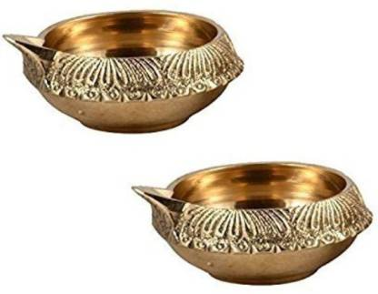Brass Kuber Diya/Brass Deepak/ Diwali Pooja Set Of 2