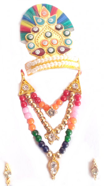 Multicolour Shringar Jewellery Set/Shringar set For Thakurji