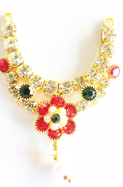 Flower Diamond Laddu Gopal Neckless/Haar For Deity