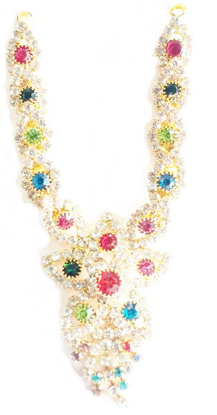 Flower Stone Neckless For Radha Krishana/Deity Ornaments