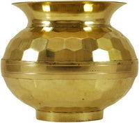 Brass Pooja Lota / Designer Lota / Pure Brass Lota / Diamond Cutting Lota Brass Kalash