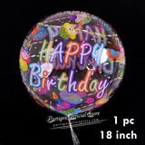Abelestore 1 set Happy Birthday Letters balloons wedding birthday party banners helium globos Rose Gold foil balloons alphabets kids toy