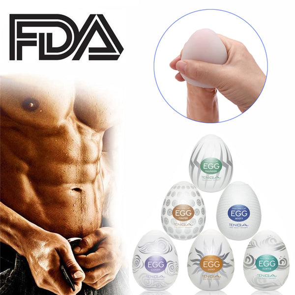 Masturbation Wavy Egg Cup Male Masturbator Mens Sex Toys for Men Penis Sex Pocket Pussy Realistic Vagina Silicone Adults Shop