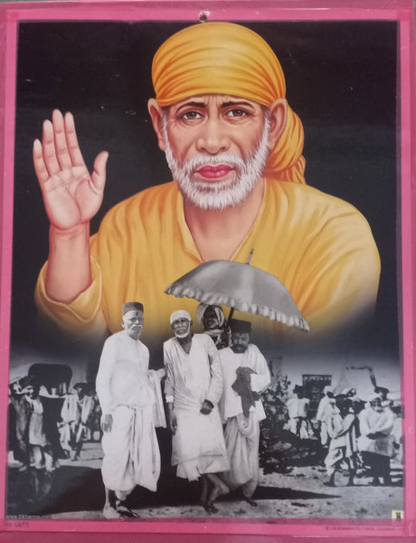 Sai Baba Poster/ Original Sai Photo Poster