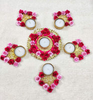 TEA LIGHT CANDLE HOLDER RANGOLI