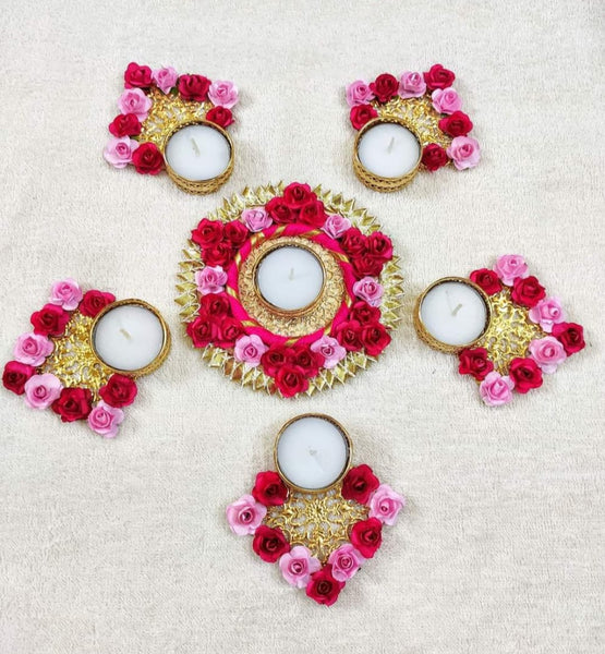 TEA LIGHT CANDLE HOLDER RANGOLI - Abelestore