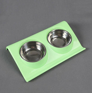Double Raised Pet Feeding Bowls - Dog Chews