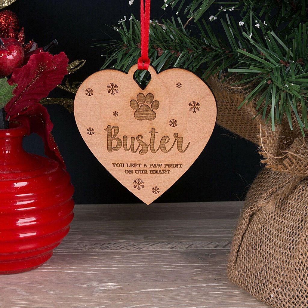Personalised Christmas Bauble Wooden Pet Memorial Ornament - Dog Chews