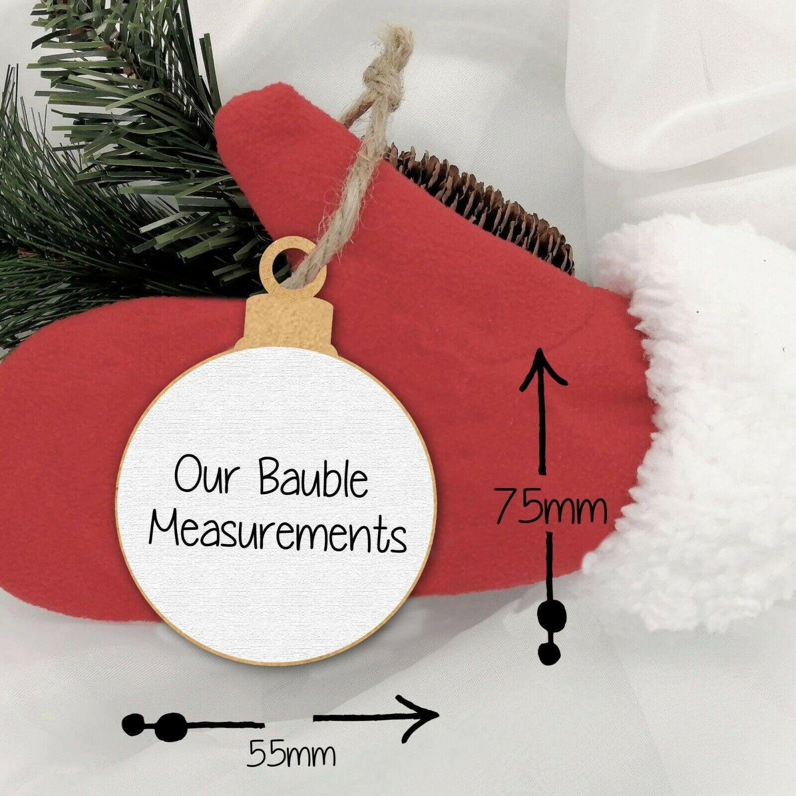 Personalised Santa Paws Christmas Bauble - Dog Chews