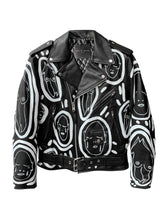 Load image into Gallery viewer, 'All Over You' Hand Painted Leather Jacket - Patrick Church