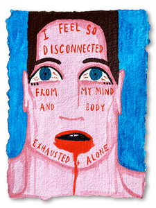"'Confession' On Paper 9"" x 12"" - Patrick Church"