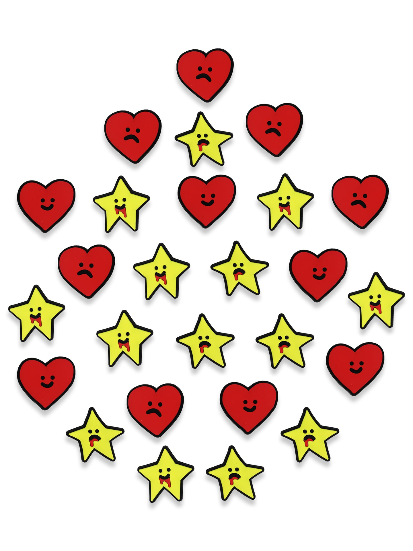 'HEARTS & STARS' Charms 26 Pcs - Patrick Church