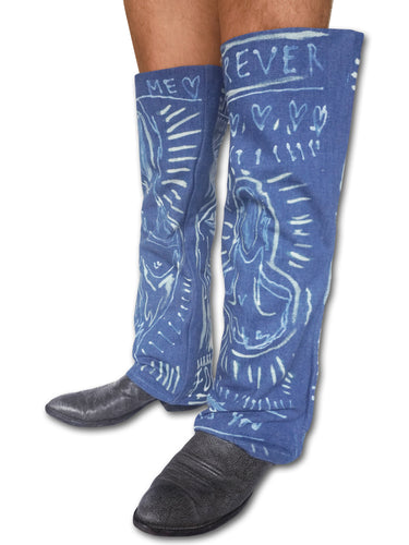 'Into The Blue' Bleach Painted Denim Boot Sleeve - Patrick Church