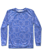 Load image into Gallery viewer, 'All Over You' Bleached Denim Sweatshirt - Patrick Church