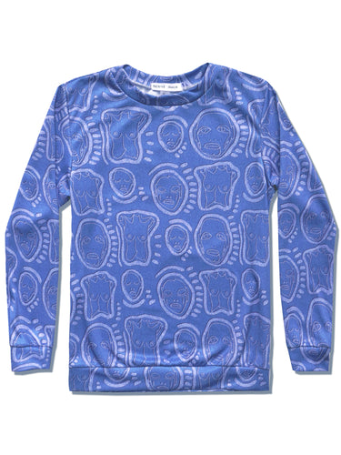 'All Over You' Bleached Denim Sweatshirt - Patrick Church