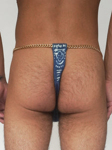 'Into The Blue' Bleached Denim Thong - Patrick Church