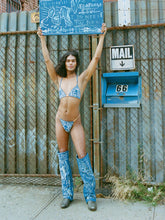 Load image into Gallery viewer, 'Into The Blue' Bleached Denim Thong - Patrick Church