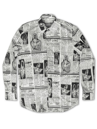 'Greatest Love' Diary Button Down Shirt - Patrick Church