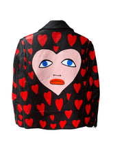 Load image into Gallery viewer, 'Hearts' Hand Painted Leather Jacket - Patrick Church