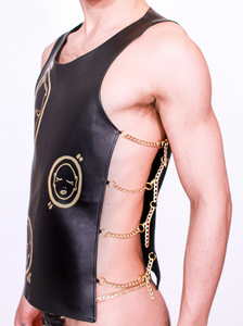 'All Over You' Hand Painted Leather Tank Top - Patrick Church